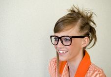 Free Girl In Glasses Royalty Free Stock Image - 9653836