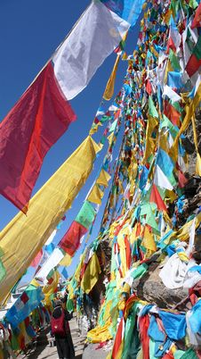 Free Prayer Flags Royalty Free Stock Photo - 9655245