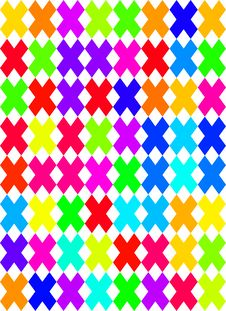 Free Colored Cross Pattern Stock Photo - 9655800