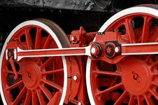 Free Wheels Of A Locomotive Royalty Free Stock Photos - 9656608