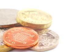 UK Coins Stock Photo