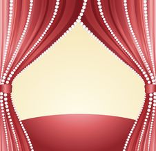Free Ecorated With A Curtain Stock Image - 9656761