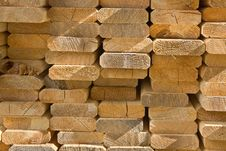 Free Sawed Wooden Boards Laid In A Heap Stock Image - 9656791
