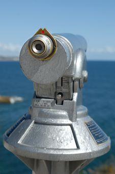 Free Binocular At The Coast Stock Photos - 9656993