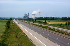 Free Autobahn And Power Plant Royalty Free Stock Photo - 9657175