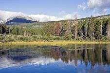Lake In Rocky Mountain National Park Stock Images