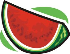 Free Water Melon Icon Stock Images - 9658194