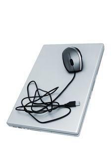 Free Modern Laptop Royalty Free Stock Image - 9658266