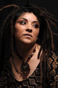 Free Beautiful Woman With Dreadlocks Stock Image - 9658501