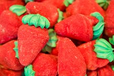Free Candies Shaped Strawberry Stock Images - 9658594