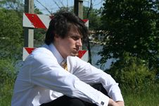Free Depressed Business Man Stock Photography - 9659062