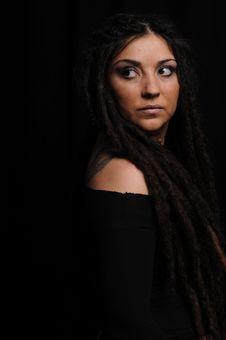 Free Beautiful Woman With Dreadlocks Stock Photography - 9659442