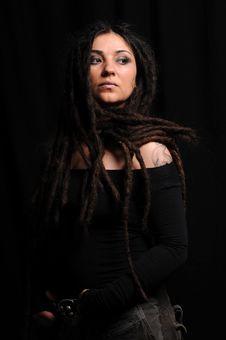 Free Beautiful Woman With Dreadlocks Stock Image - 9659491