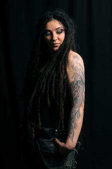 Free Beautiful Woman With Dreadlocks Stock Image - 9659511