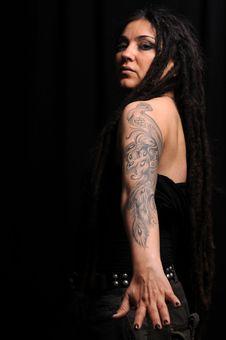 Free Beautiful Woman With Dreadlocks Royalty Free Stock Photos - 9659528
