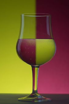 Free Close-up Of Beer Glass Against Colored Background Stock Photo - 96542520