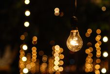 Free One Bulb Light Stand Alone Stock Images - 96542604