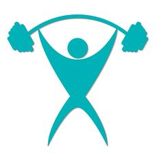 Free Man With A Barbell On White Background Logo Stock Image - 96559031