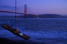 Free San Francisco Bridge On Sea Water Royalty Free Stock Image - 96580916