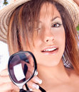 Free Woman With  Hat And Sunglasses In Summer Time Royalty Free Stock Photo - 9664225