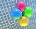 Free 4 Bright Color Balls On A Grid Stock Images - 9665124