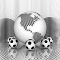 Free Soccer Ball With Earth Stock Photos - 9665393