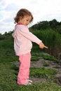 Free Girl Ashore Lake. Royalty Free Stock Photos - 9665778