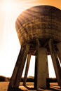 Free Sepia Water Tower Royalty Free Stock Images - 9666719