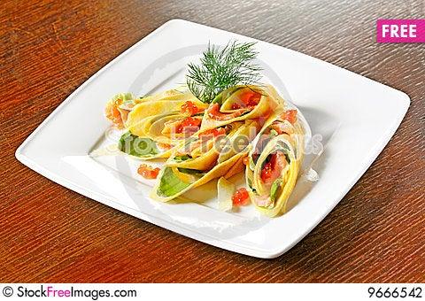 Free Caviar Pancake Stock Photography - 9666542