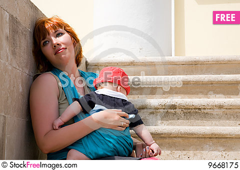 Free Young Mother With Kid Royalty Free Stock Photo - 9668175