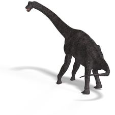 Free Giant Dinosaur Brachiosaurus With Clipping Path Royalty Free Stock Image - 9660006
