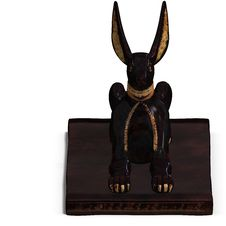 Free Jackal Statue Royalty Free Stock Image - 9660056