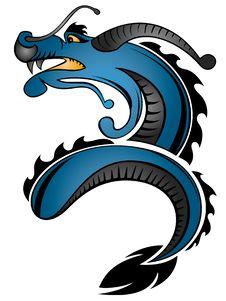 Free Dragon Pattern Stock Images - 9660384