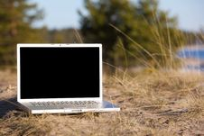 Free Outdoor Laptop Royalty Free Stock Photos - 9660448