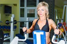 Free Woman Bodybuilder Stock Image - 9660861