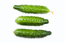 Three Cucumbers Stock Photos