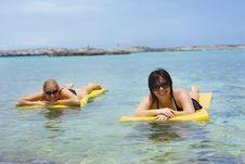 Free Women Relaxing In The Ocean Stock Photo - 9661060