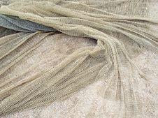 Free Fishing Net On Sand. Stock Image - 9661521