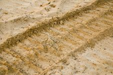 Free Track On Sand Royalty Free Stock Photo - 9661845