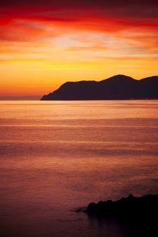Free Sunset At Coast Stock Photos - 9662483
