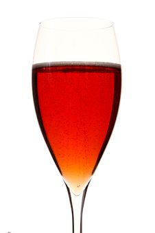 A Red Champagle Glass With Alcohol Stock Image