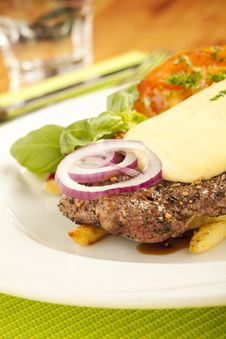 Free Steak On The Plate Stock Photos - 9662743
