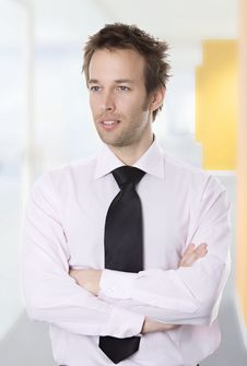 Free Confident Young Business Man Stock Image - 9663331