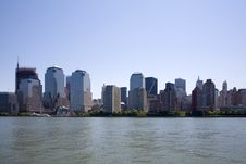 Free Manhattan Skyline Stock Photography - 9664022