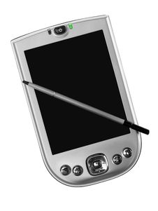 Pocket Computer And Stylus Stock Image