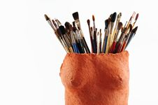 Free Art Brush Royalty Free Stock Photo - 9664395