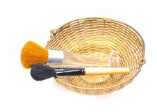 Free Makeup Brushes Royalty Free Stock Photos - 9664948