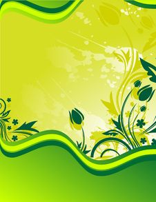 Free Green Floral Background Stock Photography - 9664992