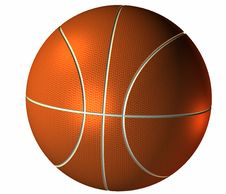 Free 3d Basket Ball Isolated On A White Royalty Free Stock Photos - 9665068