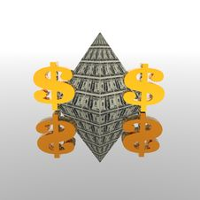 Free Dollar Pyramid Stock Photos - 9665073